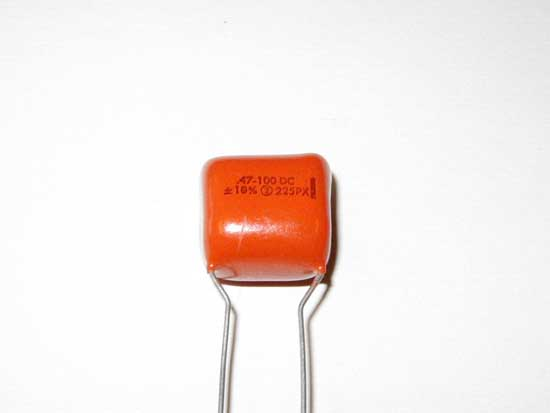.47uF 100VDC Polyester Film / Foil Orange Drop Capacitor