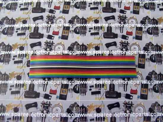 16 Conductor 28AWG Color Coded Flat Cable - 3M 3302