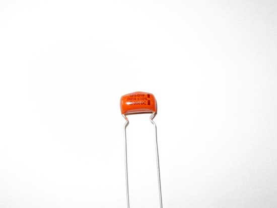 .0018uF 600VDC Polyester Film Sprague Orange Drop Capacitor