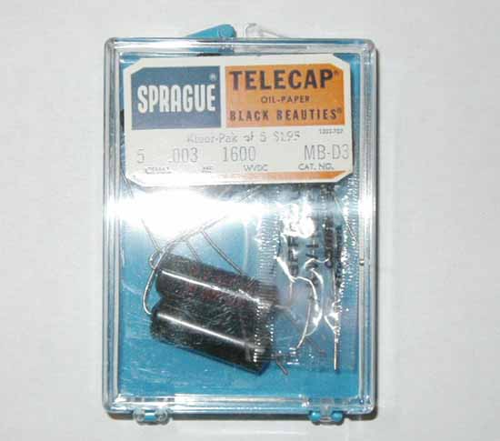 .003uF, 1600VDC Sprague Black Beauties Capacitor