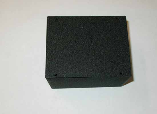 "Steel Project Box, 5""W x 4""D x 3""T, Black Wrinkle Finish"