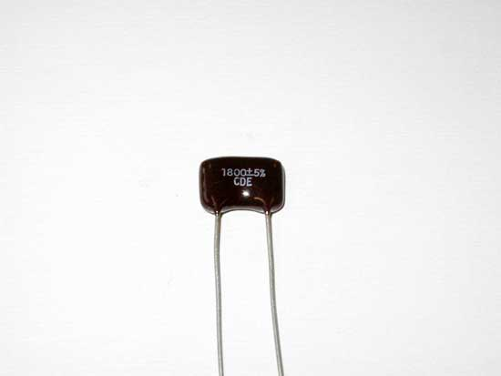 1800pF 500VDC Silver Mica Capacitor