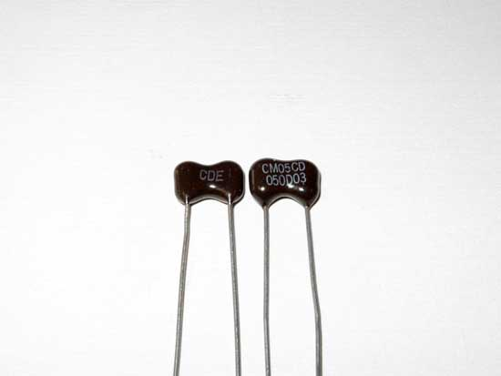 5pF 500VDC Silver Mica Capacitor 2 Pack