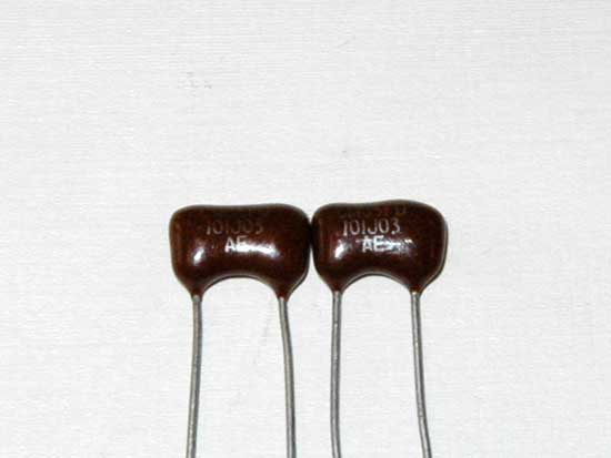 100pF 500VDC Silver Mica Capacitor 2 Pack