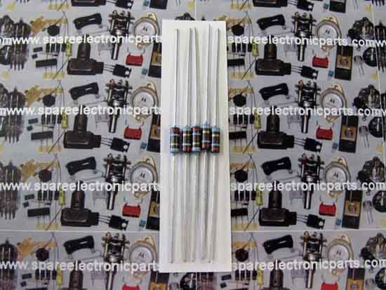 390 Ohm 1/2 Watt 5% Metal Film Resistor 5 Pack