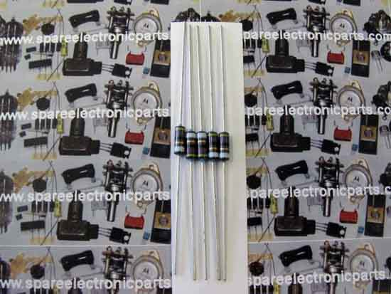 47 Ohm 1/2 Watt 5% Metal Film Resistor 5 Pack