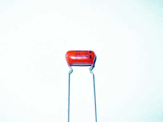 .002uF, 1000VDC Polyester Film Sprague Orange Drop Capacitor