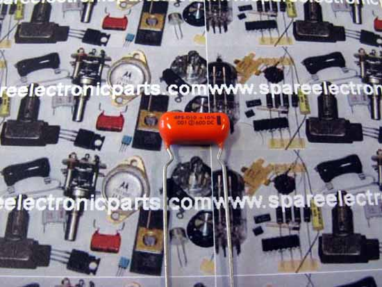 .001uF 600VDC Polyester Film Sprauge Orange Drop Capacitor