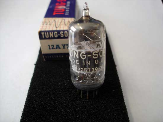 12AY7 Double Triode Tube - Tung-Sol New Old Stock