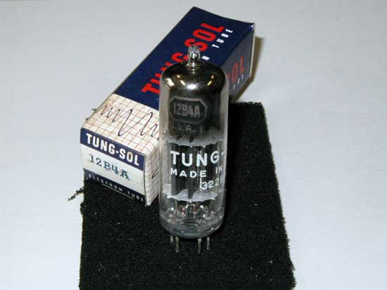 12B4A Triode Vacuum Tube - Tung-Sol New Old Stock