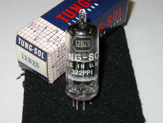 12BZ6 Pentode Vacuum Tube - Tung-Sol New Old Stock