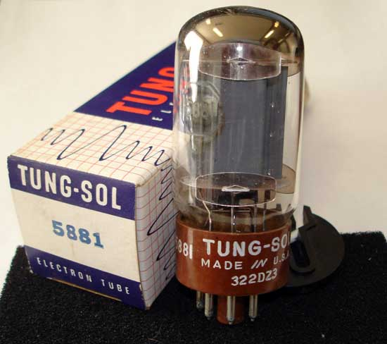 5881 Power Vacuum Tube - Tung-Sol New Old Stock