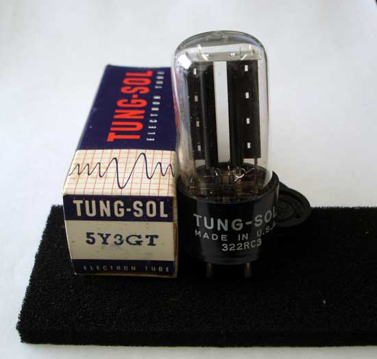 5Y3GT Power Rectifier Vacuum Tube - Tung-Sol New Old Stock