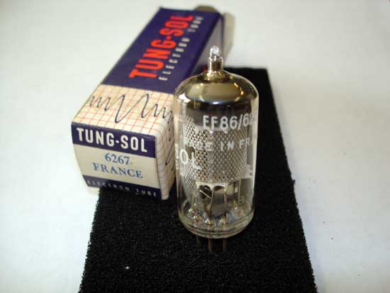 EF86 / 6267 Pentode Vacuum Tube - Tung-Sol New Old Stock