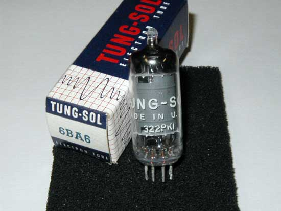 6BA6 Pentode Vacuum Tube - Tung-Sol New Old Stock