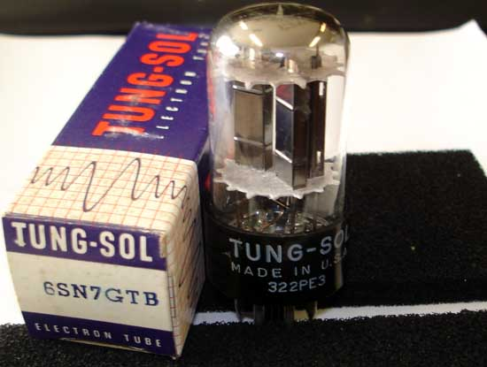 6SN7GTB Double Triode Vacuum Tube - Tung-Sol New Old Stock